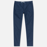 Мужские брюки Norse Projects Aros Slim Light Twill Navy фото- 0