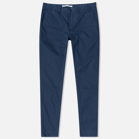 Norse Projects Aros Slim Light Twill Men's trousers Navy