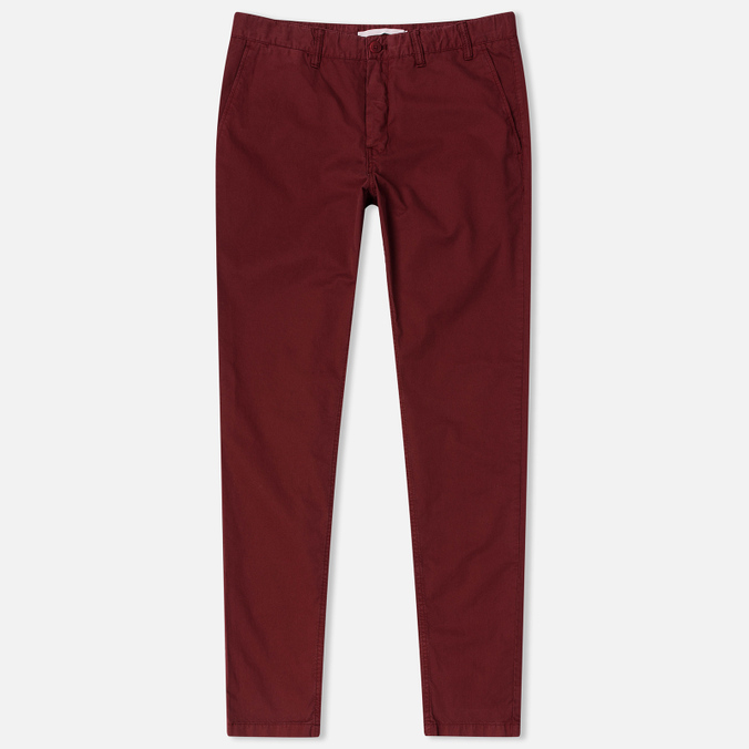 Мужские брюки Norse Projects Aros Slim Light Twill Red Clay