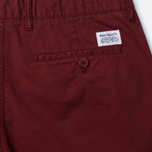 Norse Projects Aros Slim Light Twill Men's trousers Red Clay photo- 3