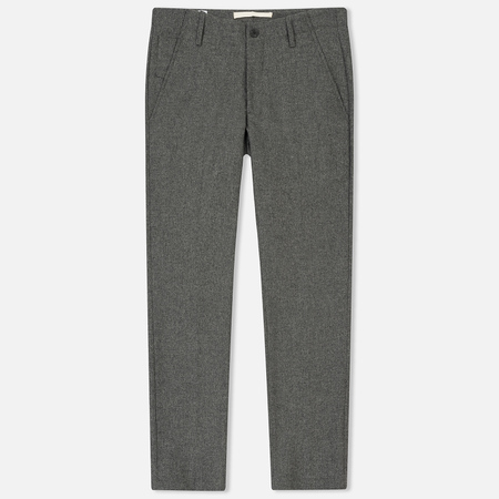 Мужские брюки Norse Projects Harri Tapered Dry Wool Nylon Light Grey Melange