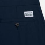 Мужские брюки Norse Projects Sten Cotton Panama Navy фото- 3