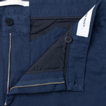 Norse Projects Sten Light Military Cotton Men's trousers Navy photo- 2