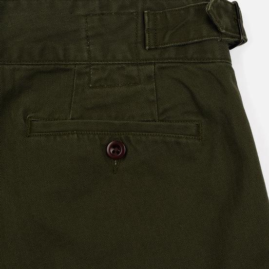 Мужские брюки Polo Ralph Lauren Baggy Fit Batten Pleated Rustic Twill Company Olive