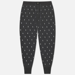 Мужские брюки Polo Ralph Lauren Printed Liquid Cotton Sleep Bottom Charcoal Heather All Over Pony Print