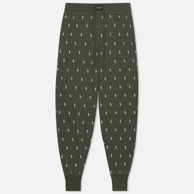 Мужские брюки Polo Ralph Lauren Printed Liquid Cotton Sleep Bottom Moss Green Heather/Nevis All Over Print