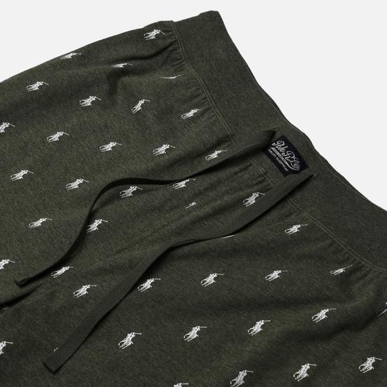 Мужские брюки Polo Ralph Lauren Printed Liquid Cotton Sleep Bottom Moss Green Heather/Nevis All Over Print