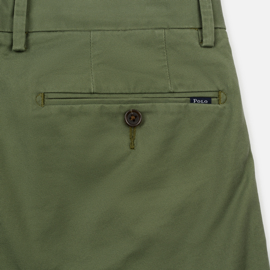 Мужские брюки Polo Ralph Lauren Tailored Slim Fit Lightweight Stretch Military Army Olive