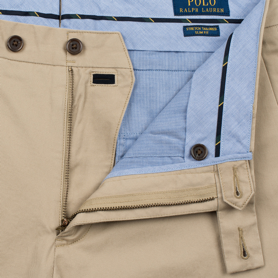 Мужские брюки Polo Ralph Lauren Tailored Slim Fit Lightweight Stretch Military Classic Khaki