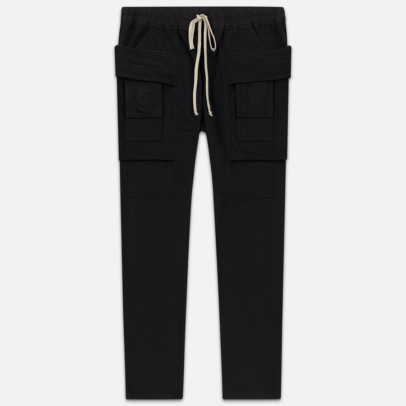 Мужские брюки Rick Owens DRKSHDW Creatch Cargo Loose Fit Black