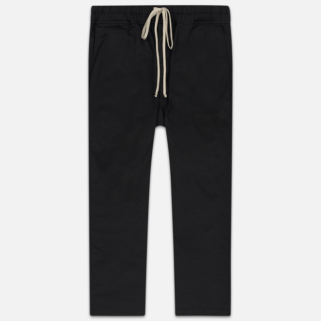 Мужские брюки Rick Owens DRKSHDW Dropped Crotch Drawstring Long Black
