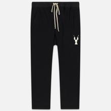 Мужские брюки Rick Owens DRKSHDW Loose Fit Drawstring Long Gym Print Black/Natural фото- 0