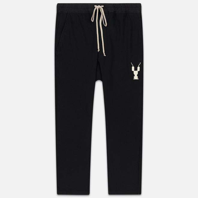 Мужские брюки Rick Owens DRKSHDW Loose Fit Drawstring Long Gym Print Black/Natural