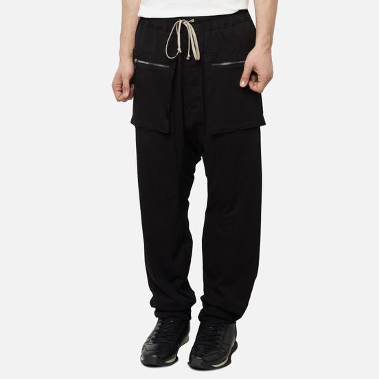Мужские брюки Rick Owens DRKSHDW Tecuatl Cargo Drawstring Long Black