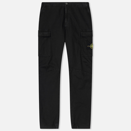 Мужские брюки Stone Island Cargo Cotton Twill Black