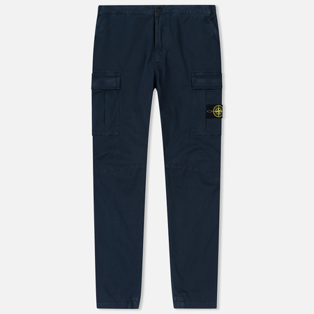 Мужские брюки Stone Island Cargo Cotton Twill Blue