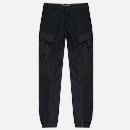 Stone Island Cargo Men's Trousers Garment Dyed Black