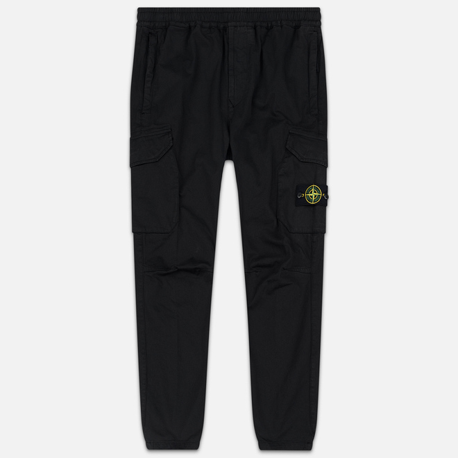 Мужские брюки Stone Island Cargo Slim Fit Black