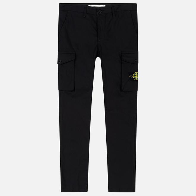 Мужские брюки Stone Island Cargo Straight Leg Cotton Blend Black