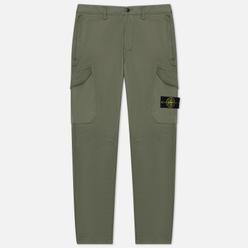 Мужские брюки Stone Island Cargo Stretch Broken Twill Olive Green