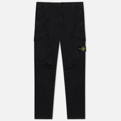 Мужские брюки Stone Island Cargo Stretch Cotton Broken Twill Black