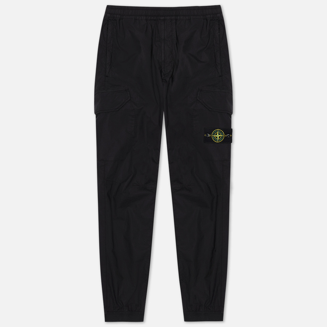 Мужские брюки Stone Island Cargo Tapered Fit Black