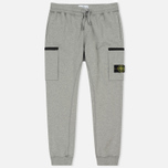 Мужские брюки Stone Island Cotton Fleece Garment Dyed Grey фото- 0