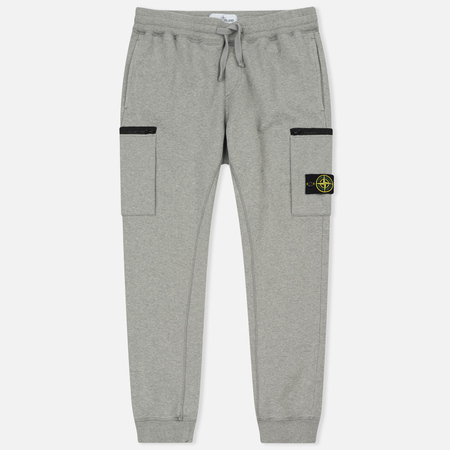 Мужские брюки Stone Island Cotton Fleece Garment Dyed Grey