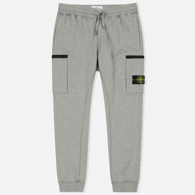 Мужские брюки Stone Island Cotton Fleece Garment Dyed Grey