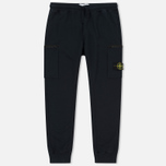 Мужские брюки Stone Island Cotton Fleece Garment Dyed Navy фото- 0