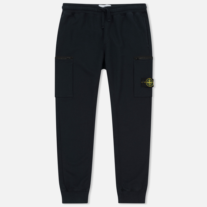 Мужские брюки Stone Island Cotton Fleece Garment Dyed Navy