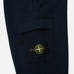 Мужские брюки Stone Island Jogging Brushed Cotton Fleece Dark Navy фото- 3