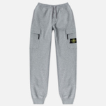 Мужские брюки Stone Island Jogging Brushed Cotton Fleece Light Grey фото- 0