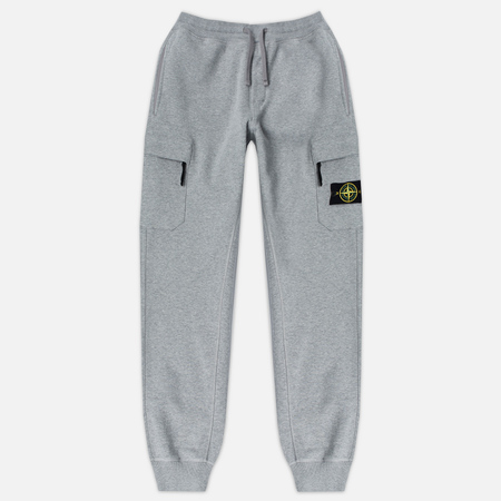Stone Island Jogging Brushed Cotton Fleece Men's Trousers Light Grey