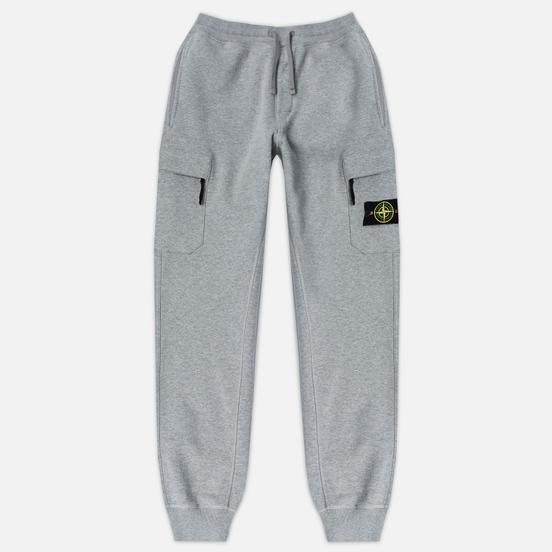 Мужские брюки Stone Island Jogging Brushed Cotton Fleece Light Grey