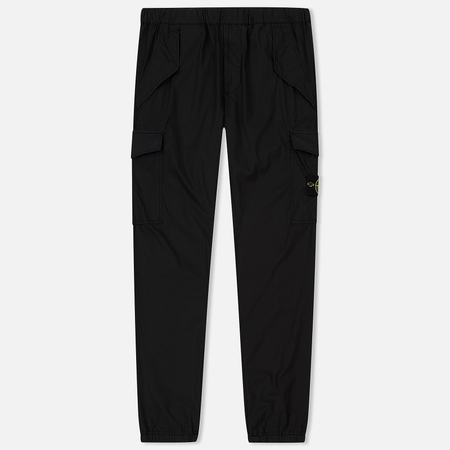 Мужские брюки Stone Island Jogging Light Cotton Canvas Garment Dyed Black