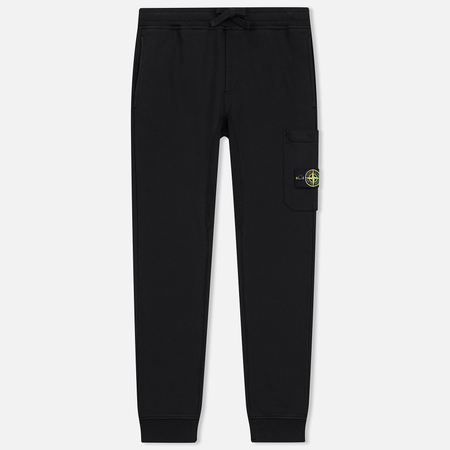 Мужские брюки Stone Island Loop-Back Cotton Fleece Black