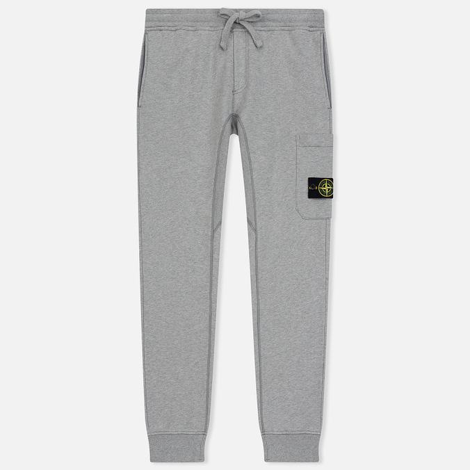 Мужские брюки Stone Island Loop-Back Cotton Fleece Dust Grey