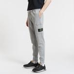 Мужские брюки Stone Island Loop-Back Cotton Fleece Dust Grey фото- 2