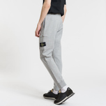 Мужские брюки Stone Island Loop-Back Cotton Fleece Dust Grey фото- 3