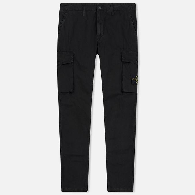 Мужские брюки Stone Island Old Effect GD Cargo Black