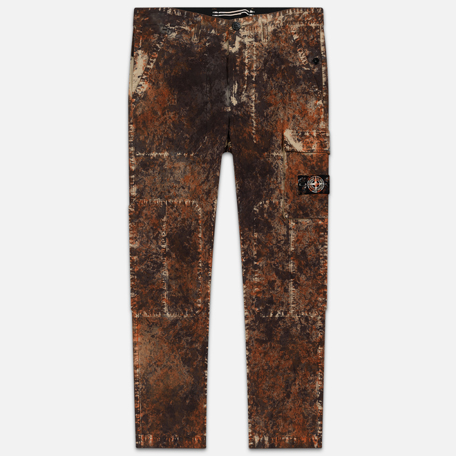 Мужские брюки Stone Island Paintball Camo Cargo Dark Brown