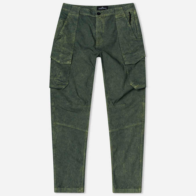 Stone Island Shadow Project Cargo Comfort Cotton Men`s Trousers Gabardine Green