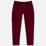 Stone Island Shadow Project Cargo Comfort Cotton Gabardine Maroon photo- 0