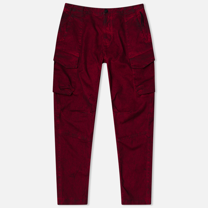Stone Island Shadow Project Cargo Comfort Cotton Gabardine Maroon
