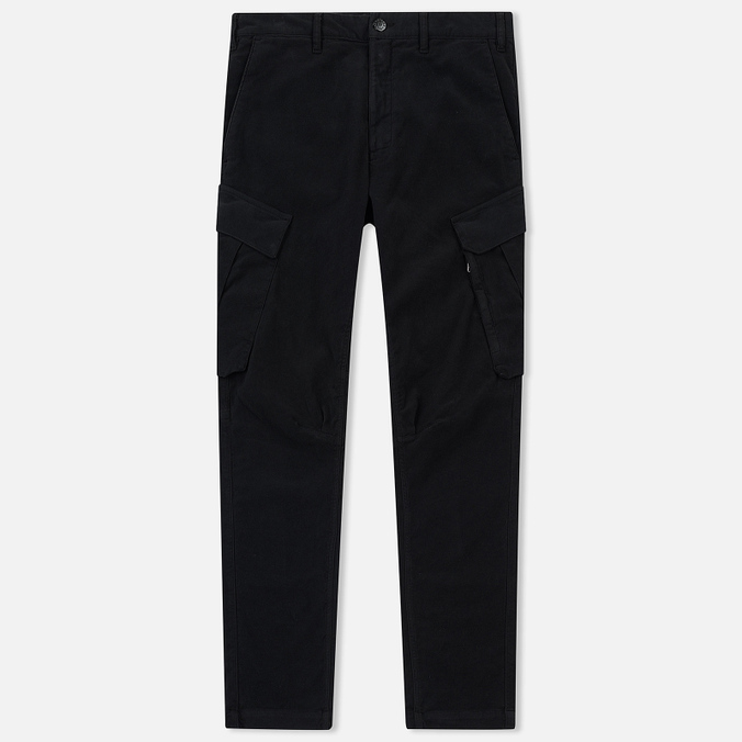 Мужские брюки Stone Island Shadow Project Cargo Stretch Moleskin Garment Dyed Black