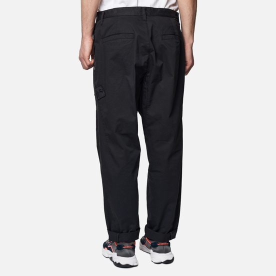 Мужские брюки Stone Island Shadow Project Chino Stretch Cotton Gabardine Black