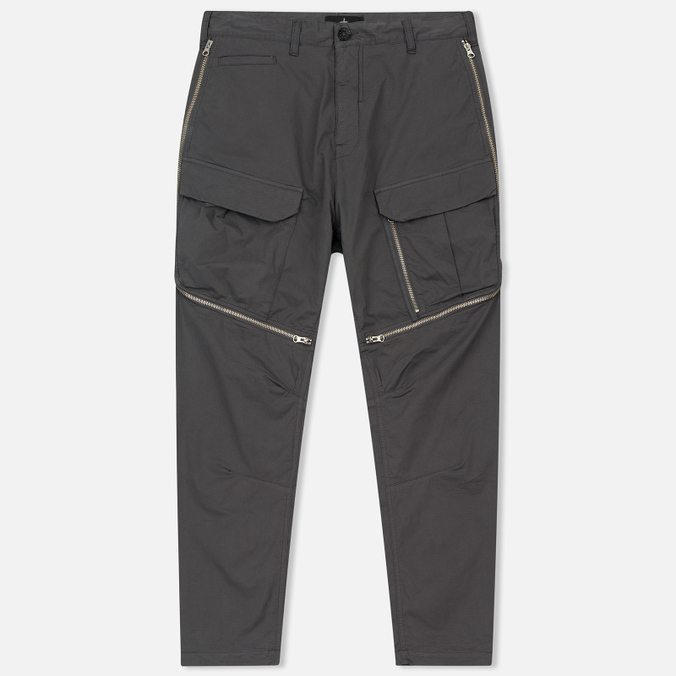 Мужские брюки Stone Island Shadow Project Comfort Poplin Cargo Anthracite