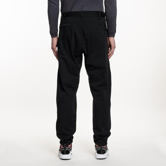 Мужские брюки Stone Island Shadow Project Cotton Wool Satin Tapered Black