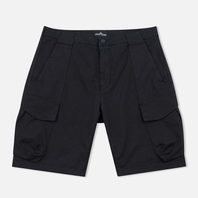 Мужские шорты Stone Island Shadow Project Cargo Black